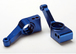 Carriers, stub axle (blue-anodized 6061-T6 aluminum)(rear)(2)