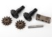 Gear set, differential (output gears (2)/ spider gears (2)/ spider gear shaft, carrier support)