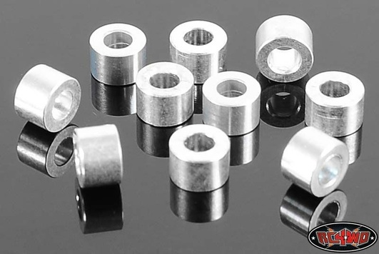 4mm Silver Spacer with M3 Hole (10)