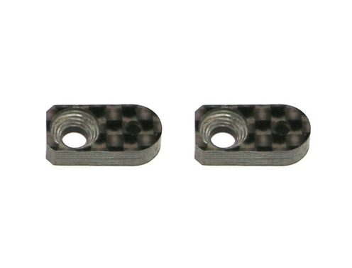 Roll damper support -7mm carbon 4X (2)