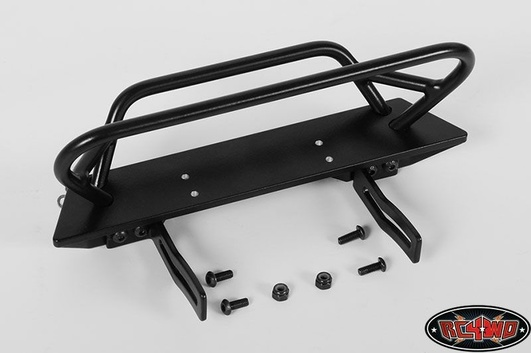 Tough Armor Winch Bumper with Grill Guard for Axial Jeep Rub
